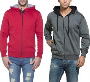 Get 70%  Off Alan Jones Men's Cotton Hooded Sweatshirt