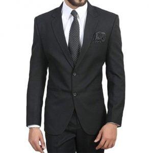 ManQ Men's Slim Fit Formal Blazers & Suits
