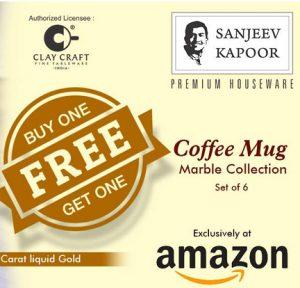 Clay Craft Sanjeev Kapoor Ceramic Coffee 12 Pcs Mug Set
