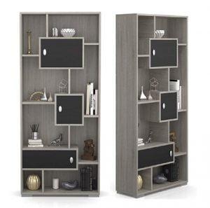 Forzza Bernard Wenge & White Designer Wood Shelf and Locker