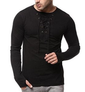 GRITSTONES Full Sleeve Round Neck Black T-Shirt lowest online