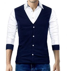 Seven Rocks Designer Waist Coat Style Tshirt at Best Price