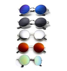 ELLIGATOR Unisex Multicolour Sunglasses - 5 Pc Combo
