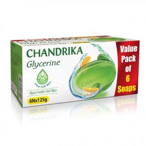 Chandrika 125 gram Glycerine Soap - Pack of 6 Huge Discount