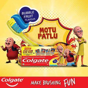 Colgate Kids Toothpaste Free Sample with Motu Patlu Cards