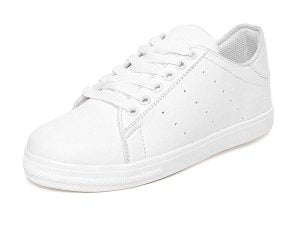 ROBBOX White White Printed Faux Leather Sneaker Shoes for Womens