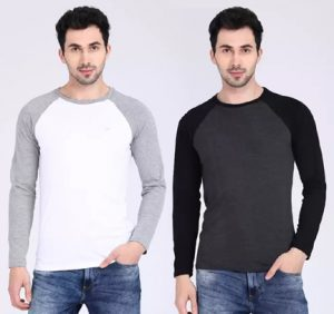 Solid Men Round or Crew Blank T-Shirts - Pack of 2