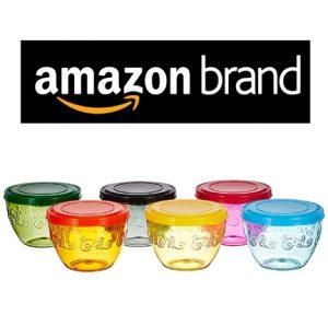Amazon Brand Solimo 220 ml Wonder Bowl with Snapfit Lid Set of 6