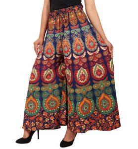 Women's Free Size Cotton Jaipuri Printed Palazzo Pant