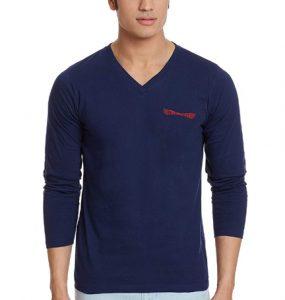 Chromozome Men's Cotton Full Sleeve Simple T-Shirt