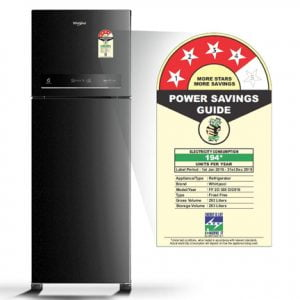 Whirlpool 265 L 4 Star Inverter Frost Free Double Door Refrigerator