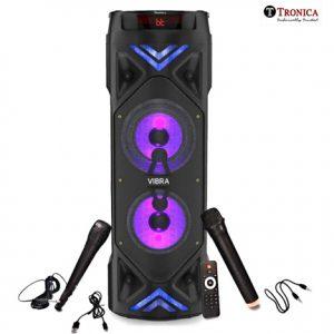 6.5 Inch Thunder Vibra Party Speaker with Karoke mics Vivid Light Effects