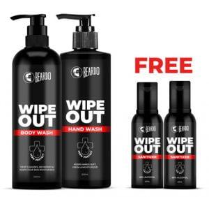 Free Sanitzers With Beardo Wipeout Boywash Combo