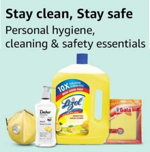 Huge Discount Personal Safety and Hygiene Cleaning Products at Amazon
