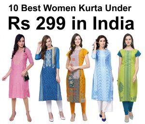 10 Best Women Kurta Under Rs 300 in India 2021