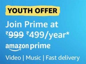 Get Rs. 500 Cashback On Amazon Prime Membership