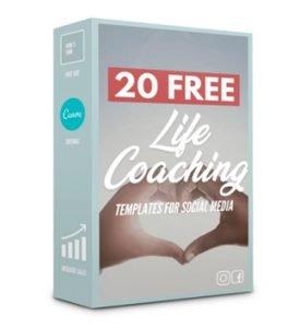 20 Free CANVA Life Coaching Template Samples + Free Social Media Calender