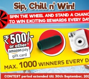 Nescafe Sip, Chill And Win Offer - Win Camera, Speaker Or Amazon Pay Balance