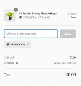 Get Free Air Purifier Money Plant With Pot From NurseryLive PROOF