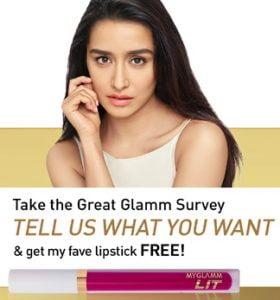 Get Free Shraddha Kapoor's Favourite Lipstick worth Rs. 395