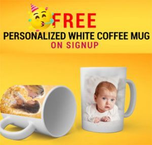 Get Free White Personalized Coffee Mug With Your Photo