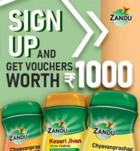Get Rs. 1000 Voucher By Sign Up at Zandu Care
